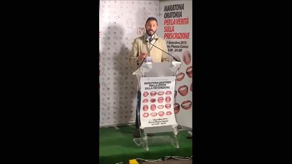VIDEO - Maratona oratoria contro l'abolizione della prescrizione, la Camera penale di Perugia a Roma