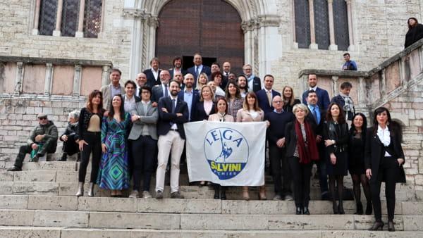 """VIDEO La Lega presenta la lista alle amministrative di Perugia, Caparvi: """"Parte integrante del progetto Romizi"""""""