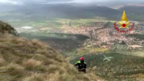 VIDEO Gualdo Tadino, uomo scomparso sul Serrasanta: in azione anche l'elicottero