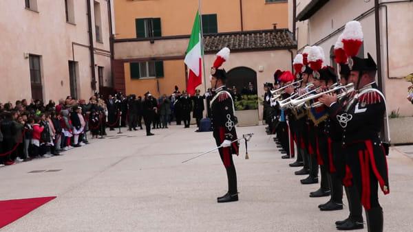VIDEO I carabinieri tornano in centro storico, inaugurata la stazione Perugia-Fortebraccio