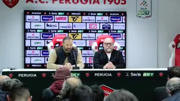"""VIDEO Cosmi nuovo allenatore del Perugia, Santopadre: """"Squadra giusta per Serse"""""""