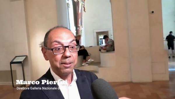 """VIDEO Pinturicchio ritrovato, il direttore della Galleria, Pierini: """"Venite a vedere e studiare questa opera quasi inedita"""""""