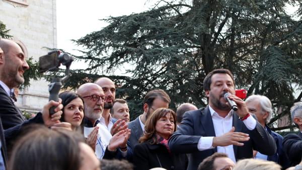 """VIDEO Elezioni regionali, Salvini: """"Donatella Tesei è la candidata della Lega"""""""