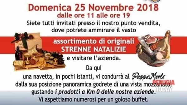 Inaugurazione Pappamerlo, presentazione strenne di Natale e buffet