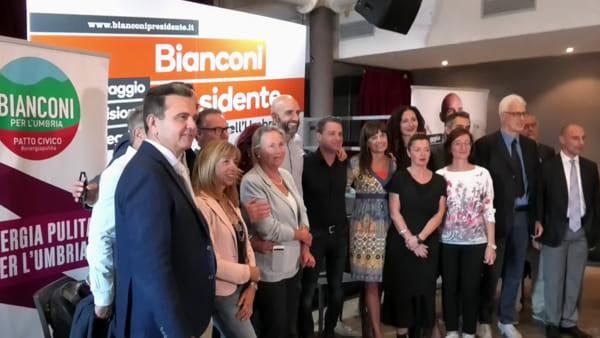 "VIDEO Elezioni regionali, presentata Bianconi per l'Umbria: ""Una lista di uomini liberi"""