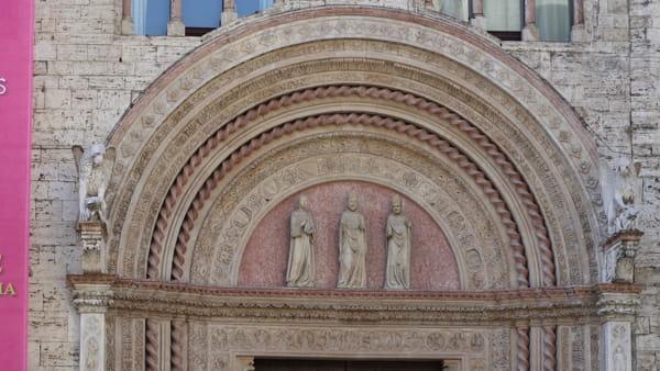 Improvvisazione artistica alla Galleria Nazionale dell'Umbria il 10 Luglio