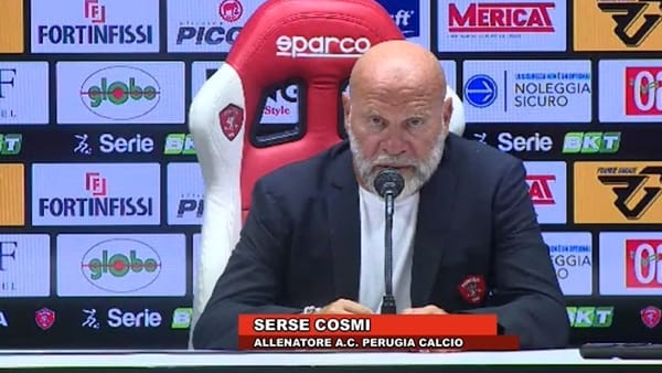 "Perugia-Pordenone 1-2, Cosmi: ""Ko immeritato, errori arbitrali e nostri. Classifica allarmante"""