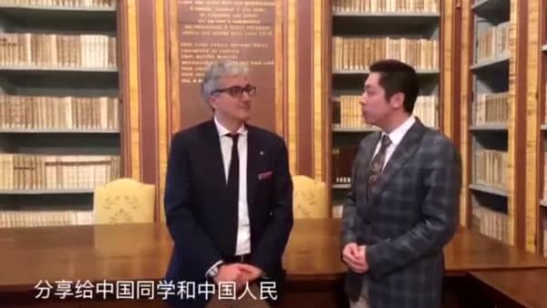 """VIDEO Emergenza coronavirus, il messaggio del rettore agli studenti cinesi: """"Siamo con voi, vi aspettiamo a Perugia"""""""