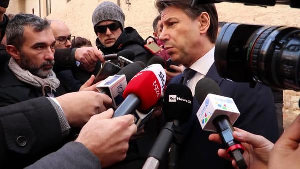 """VIDEO Manifesto di Assisi, Conte: """"Lavoriamo per un'Italia più verde. Al centro le urgenze dell'uomo"""""""