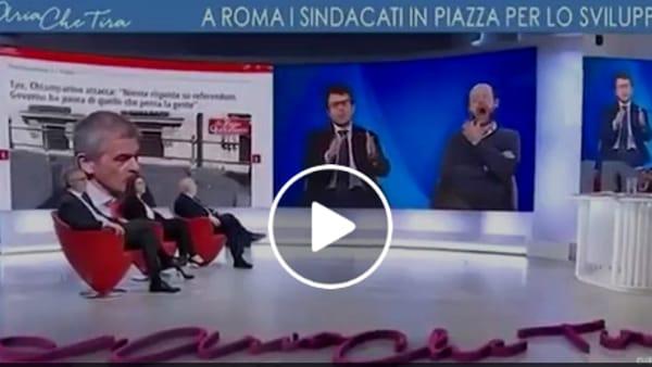 """VIDEO """"Il Pd serve i signori del capitale"""": scontro in tv tra Anna Ascani e Diego Fusaro"""