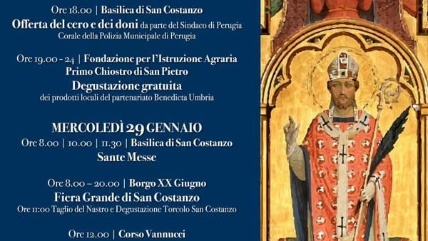 Solennità di san Costanzo, tutte le celebrazioni in programma a Perugia