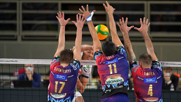 Volley Champions League, Itas Trentino-Sir Sicoma Monini Perugia 3-0: la cronaca della partita
