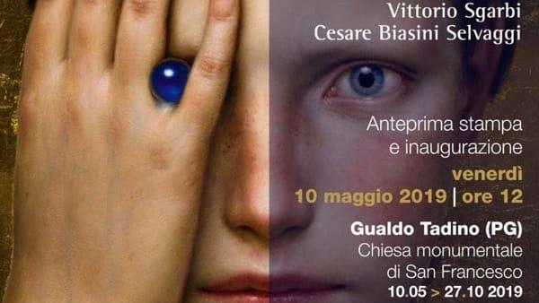 """Vittorio Sgarbi a Gualdo Tadino per """"La stanza segreta"""", capolavori di arte contemporanea"""