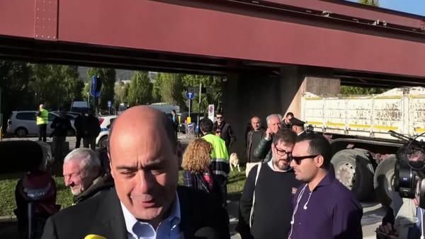 """VIDEO Elezioni regionali, Zingaretti a Perugia: """"Uniti per l'amore dell'Umbria, Salvini ha lasciato solo debiti e odio"""""""
