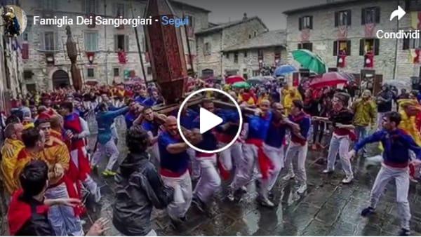 VIDEO Il Giorno dei Ceri ma senza la Festa, l'emozionante ricordo dei Sangiorgiari