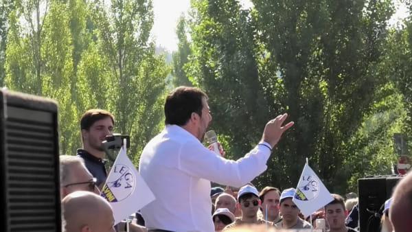 """VIDEO Elezioni regionali Umbria, Salvini: """"Questa regione merita un progetto di cambiamento di dieci anni, siamo pronti"""""""