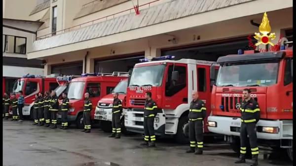 VIDEO Vigili del fuoco morti ad Alessandra, il cordoglio del comando provinciale di Perugia