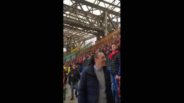 VIDEO In oltre 600 sugli spalti del San Paolo per seguire il Perugia