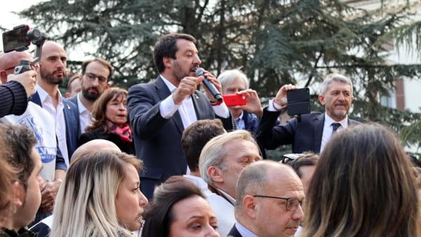 "VIDEO Salvini in piazza a Perugia: ""Gli umbri meritano una Regione attenta, trasparente e onesta"""