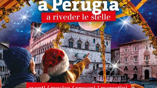 """""""Natale stellare"""", tutte le iniziative del Comune di Perugia per celebrare il Natale e i 50 anni dallo sbarco sulla luna"""