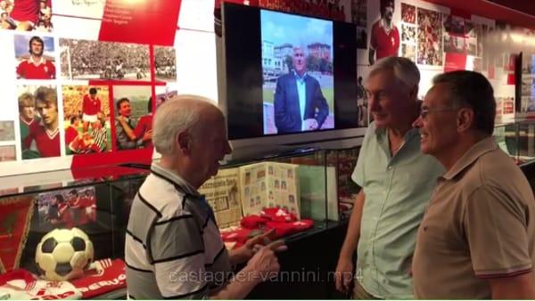 VIDEO Museo del Grifo, il Grifo dei Miracoli si ritrova davanti ai cimeli: i ricordi di Castagner, Vannini e Nappi