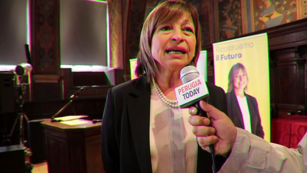 """VIDEO Elezioni regionali Umbria, Donatella Tesei: """"Il merito deve essere un imperativo categorico per il bene di tutti"""""""