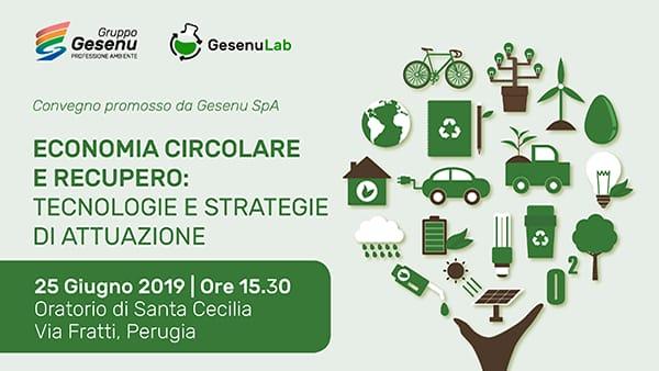 Economia circolare e recupero, il tema del convegno organizzato da Gesenu il 25 giugno