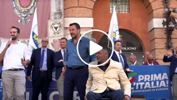 VIDEO Ballottaggi, Salvini a Foligno per sostenere Zuccarini: la diretta