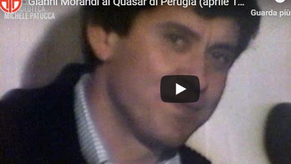 """L'INTERVISTA Correva l'anno 1979, Gianni Morandi in concerto a Perugia: """"Ritorno dopo 4 anni di silenzio..."""""""