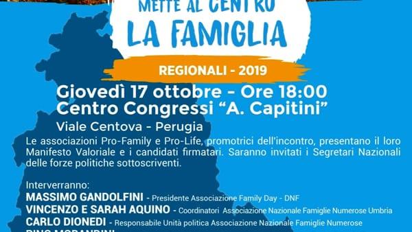 Le associazioni pro-life e pro-family dell'Umbria lanciano un Manifesto Valoriale per tutti i candidati alle regionale: presentazione il 17 Ottobre a Perugia