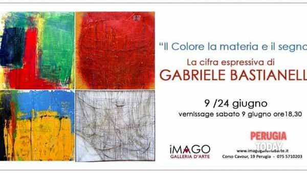 """Mostra d'arte """"Il Colore, la Materia, il Segno"""" La cifra espressiva di Gabriele Bastianelli"""