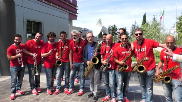 VIDEO Umbria Jazz 2019, i Funk Off in visita al Santa Maria della Misericordia