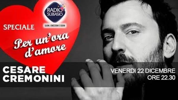 Cesare Cremonini speaker per una sera: si racconterà attraverso le canzoni d'amore