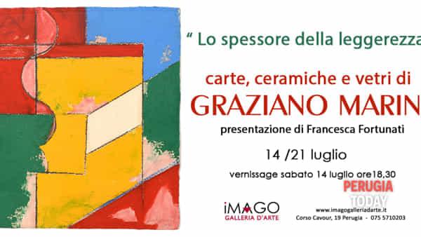 """Mostra d'arte """"Lo spessore della leggerezza"""" Carte, ceramiche e vetri di Graziano Marini"""