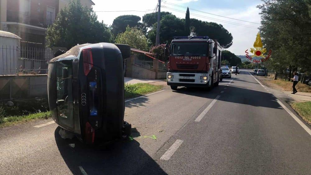Perugia, carambola a San Martino in Campo: due feriti, le ...
