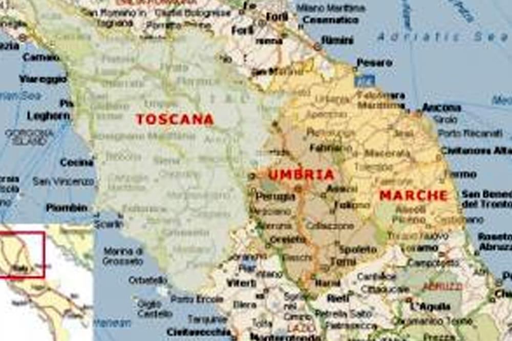 Cartina Politica Umbria E Marche.Prime Prove Da Macroregione Scatta L Accordo Tra Umbria Marche E Toscana
